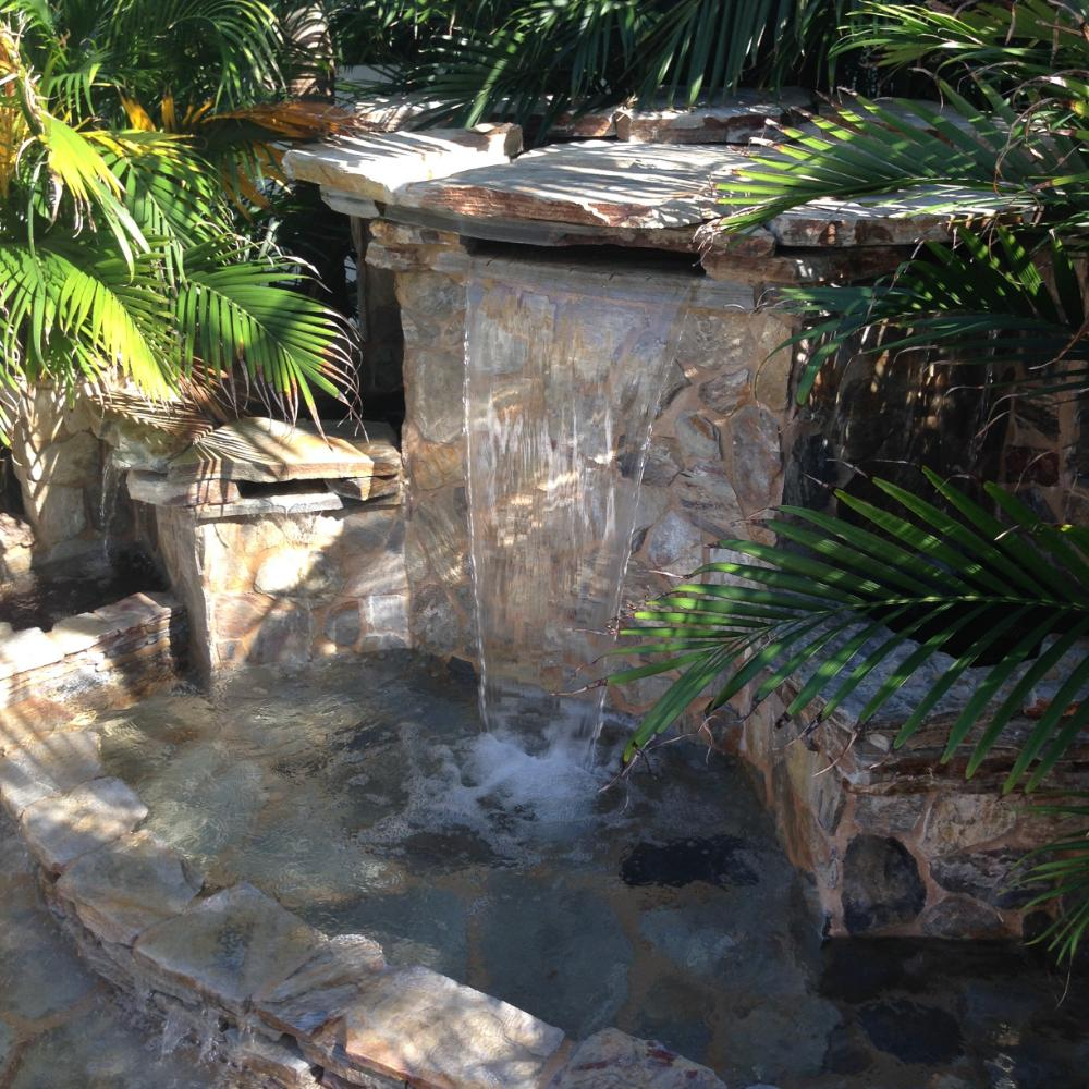 Water Feature Design Boca Raton - Rock Waterfalls